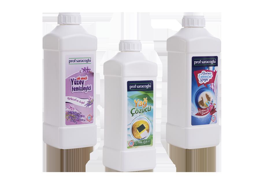 Bitkisel Yüzey Temizleyici, Çamaşır Suyu, Yağ Çözücü Seti