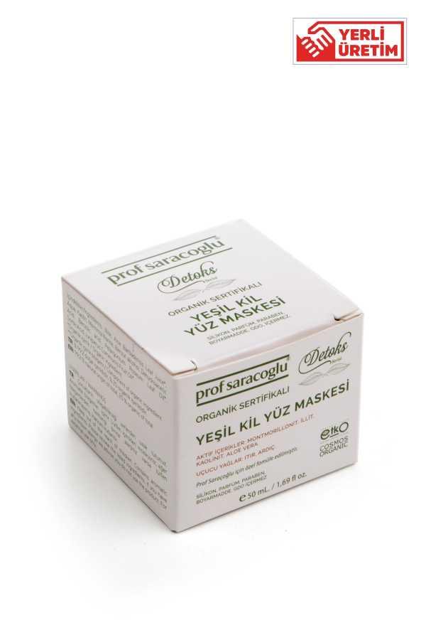 profsaracoglu - Detoks Organik Yeşil Kil Yüz Maskesi 50mL