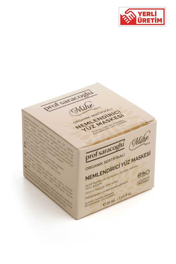 profsaracoglu - Mihr Organik Nemlendirici Yüz Maskesi 50 ml