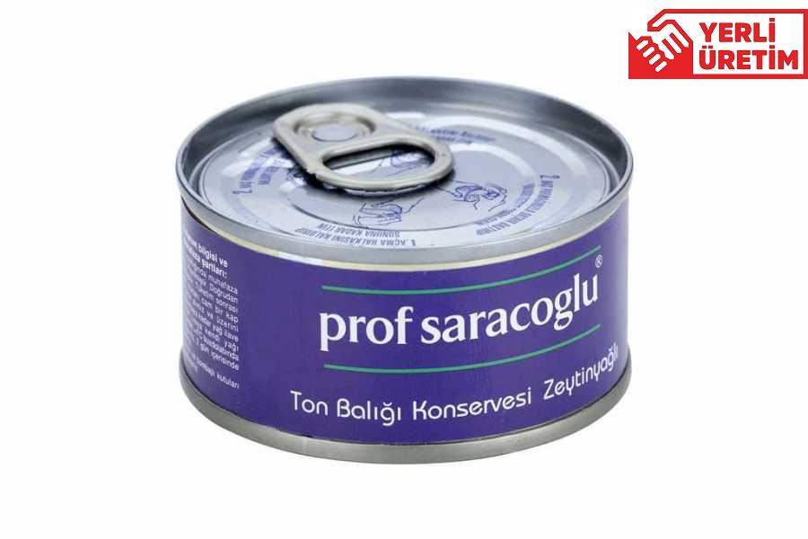 profsaracoglu - Ton Balığı Konservesi - Zeytinyağlı (12 Adet)